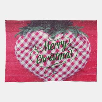 Merry Christmas Heart Towel