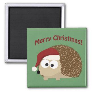 Merry Christmas Hedgehog Refrigerator Magnets