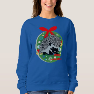 merry christmas hedgehog sweatshirt