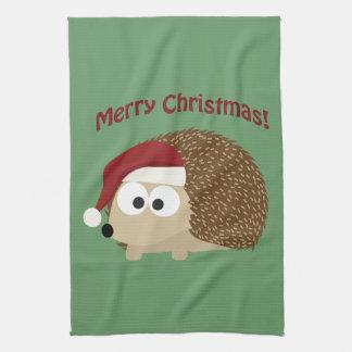Merry Christmas! Hedgehog Tea Towel