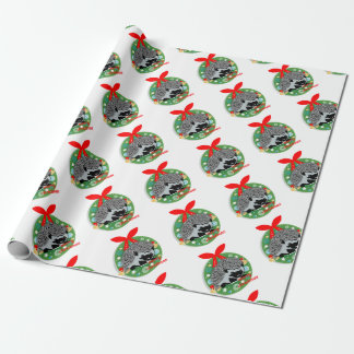 merry christmas hedgehog wrapping paper