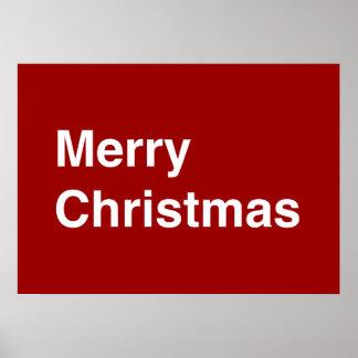 Merry Christmas Helvetica Poster