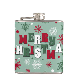 Merry Christmas Hip Flask