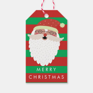 Merry Christmas | Hipster Santa Gift Tags