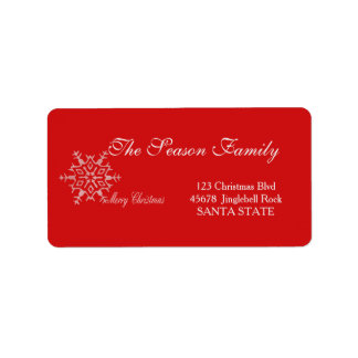 Merry Christmas Holiday Address Label