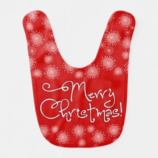 Merry Christmas! Holiday Baby Bib