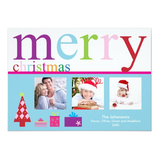 Merry Christmas Holiday Card (blue)