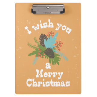 Merry Christmas Holiday Decor Clipboards