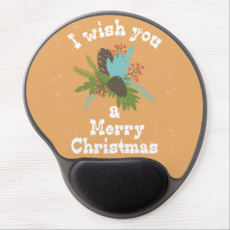 Merry Christmas Holiday Decor Gel Mouse Pad