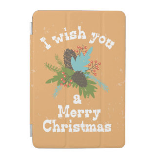 Merry Christmas Holiday Decor iPad Mini Cover