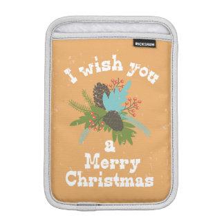 Merry Christmas Holiday Decor iPad Mini Sleeves