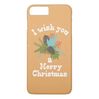 Merry Christmas Holiday Decor iPhone 7 Plus Case