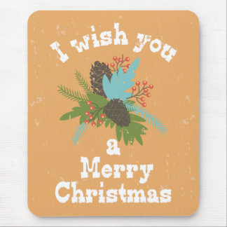 Merry Christmas Holiday Decor Mouse Pad