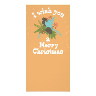 Merry Christmas Holiday Decor Photo Card Template