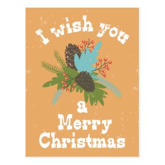 Merry Christmas Holiday Decor Postcard