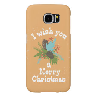 Merry Christmas Holiday Decor Samsung Galaxy S6 Cases