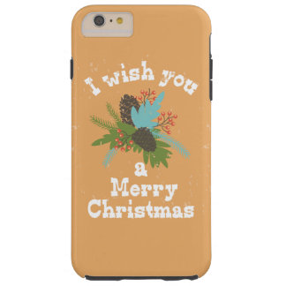 Merry Christmas Holiday Decor Tough iPhone 6 Plus Case