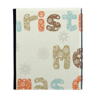 Merry Christmas Holiday Design iPad Folio Cases