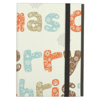 Merry Christmas Holiday Design iPad Air Case
