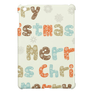 Merry Christmas Holiday Design iPad Mini Case