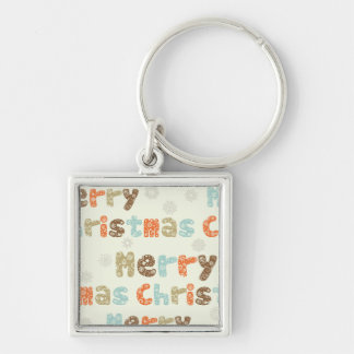 Merry Christmas Holiday Design Keychains
