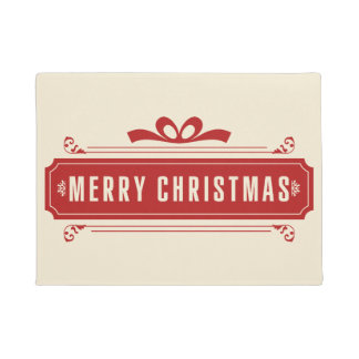 Merry Christmas Holiday Doormat