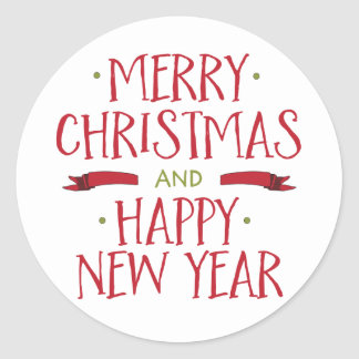 Merry Christmas Envelope Seals Stickers | Zazzle.com.au