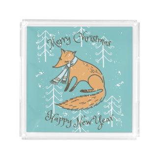 Merry Christmas Holiday Fox Cozy