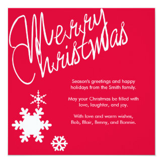 Merry Christmas Holiday Greeting Card