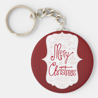 Merry Christmas Holiday Greeting Keychains