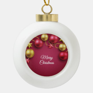 Merry Christmas Holiday Greeting Ornaments