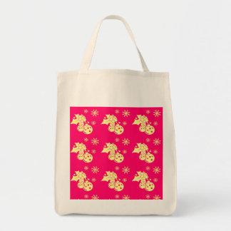 Merry Christmas Holiday Grocery Tote Bag
