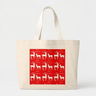 Merry Christmas Holiday Jumbo Tote Bag