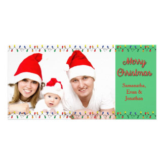 Merry Christmas Holiday Lights with Photo Card