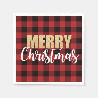 Merry Christmas Holiday Party Napkins Disposable Napkins