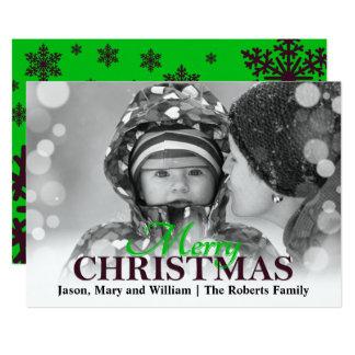 Merry Christmas Holiday Photo Card 13 Cm X 18 Cm Invitation Card
