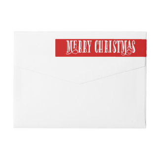 Merry Christmas | Holiday Return Address Labels Wraparound Return Address Label