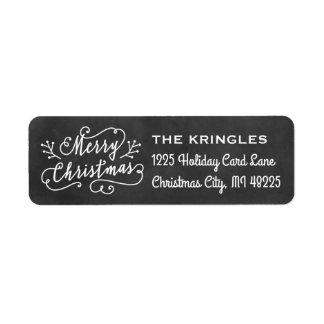 Merry Christmas | Holiday Return Address Return Address Label