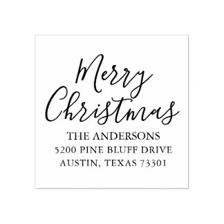 Merry Christmas | Holiday Return Address Stamp