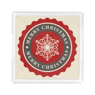 Merry Christmas Holiday Snowflake