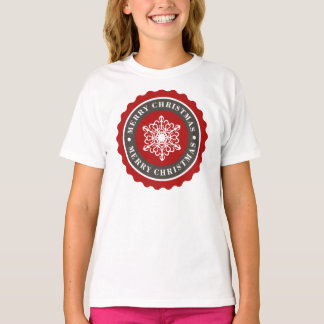 Merry Christmas Holiday Snowflake T-Shirt