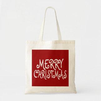 Merry Christmas Holiday Tote Bag
