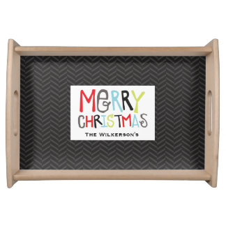 Merry Christmas Holiday Tray