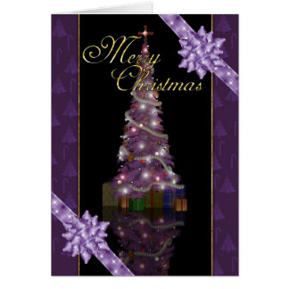 Merry Christmas - Holiday Tree And Lights Greeting Cards