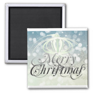 Merry christmas holidays square magnet
