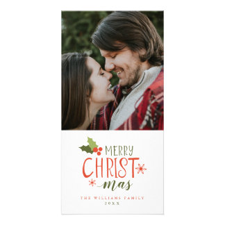 Merry Christmas Holly Berry Card