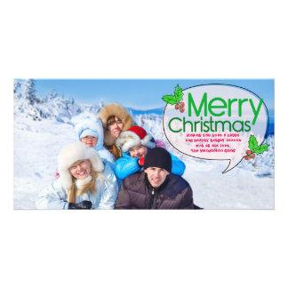 Merry Christmas Holly Customised Photo Card