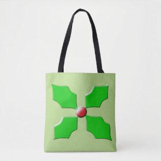 Merry Christmas Holly Tote Bag