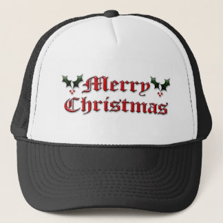 Merry Christmas - Holly Trucker Hat