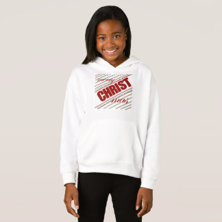 merry CHRISTmas hoodie girls